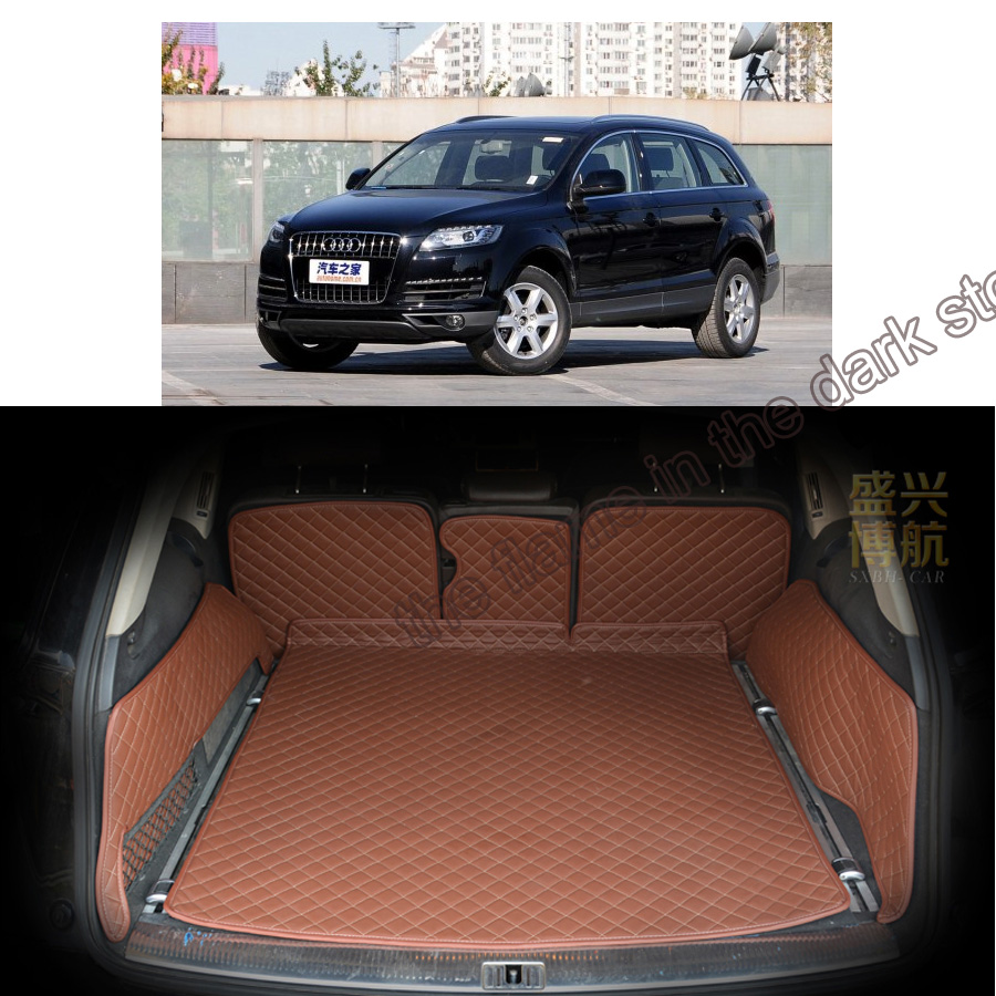 Custom fit pu leather car trunk mat cargo mat for bmw audi q7 2010 2011 2012