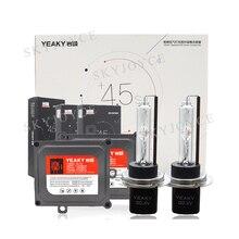 Премиум Yeaky 45W Xenon H1 H7 H3 H11 HB3 HB4 HID комплект ксеноновой лампы быстрая яркая 5500K Yeaky лампа для фар 45W Yeaky HID балласт комплект