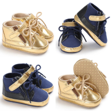 Модная одежда для детей, Детская мода обувь Лидер продаж мальчики девочки Дети Нескользящая детская обувь кроссовки из pu кожи на мягкой подошве кроватки Babe на возраст от 0 до 18 месяцев