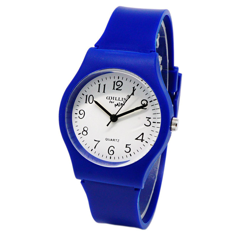WILLIS Girls Watches Gifts Quartz Silicone Student Women Fashion Boy Casual Simple
