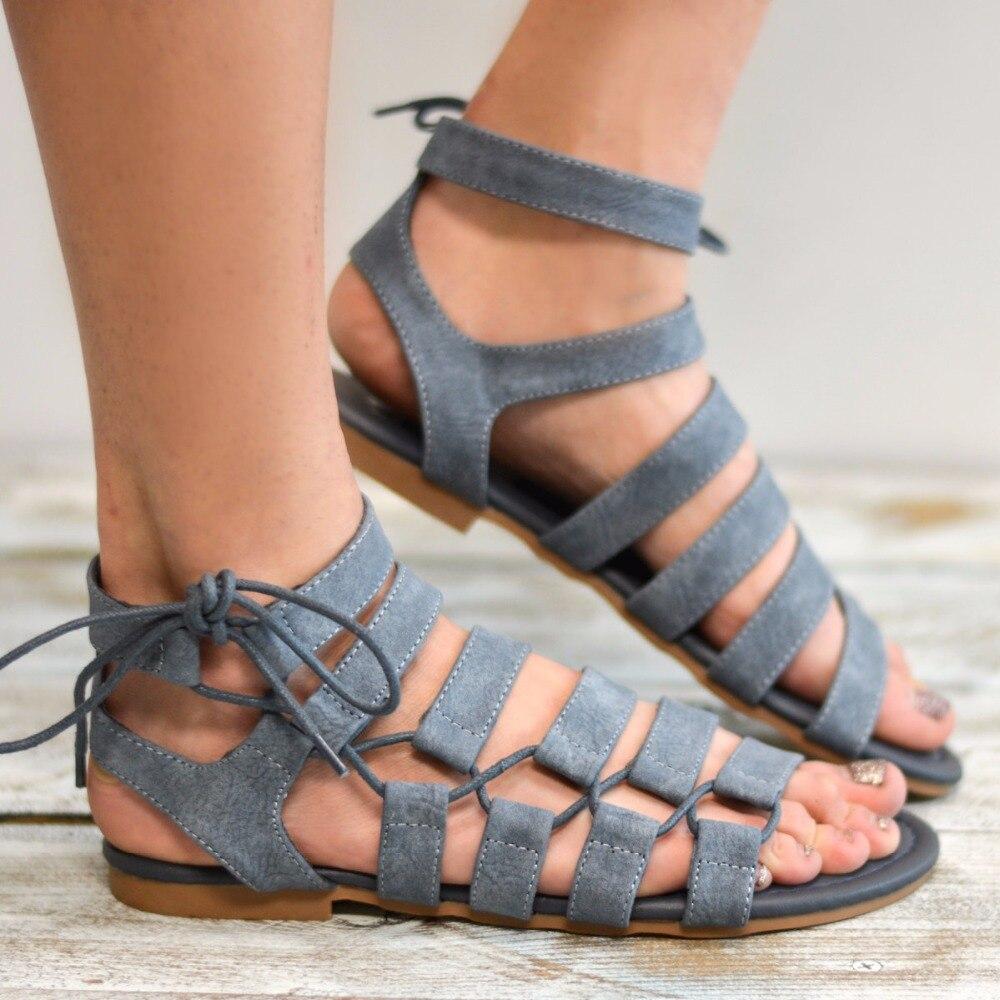2ac58e44b6ab15 Women sandals 2018 summer women flat sandals fashion flock sandals flowers  decor women beach shoes plus size 42 43