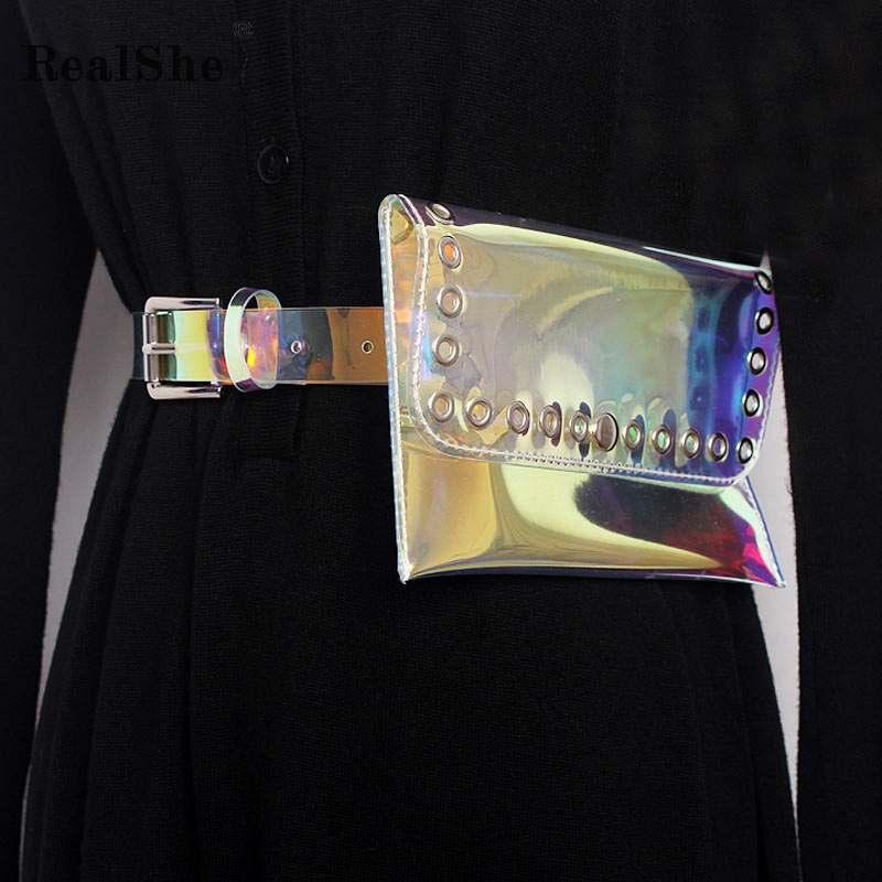 RealShe Belts For Women New 2018 Fashion Women Belt Brand Ladies Colorful Transparent Straps Girls Fashion Accessories