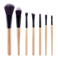 Professional 7 PCS Makeup Brushes Set Tools Make-up Kit Wool Brand Make Up Brush Set Case Cosmetic Foundation Brush TF