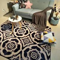 Black Soft Carpets Anti skid Plush Hair Shaggy Carpet Faux Fur Area Rugs Floor Mats For Living Room Bedroom Alfombras