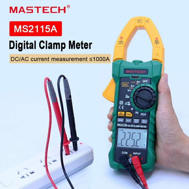 MASTECH Numérique Pince Multimètre MS2115A AC/DC 1000A Auto Range Pince Multimètre Multimètre Pince De Courant Mètre Testeur 6000 Compte