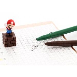 Image 3 - 30 יח\חבילה חמוד סופר מריו ג ל עט Cartoon ג ל עט חידוש 3D מתנת מכתבים בית ספר הפרס תלמיד ציוד לבית ספר סיטונאי