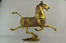 Chinese hand-carved brass statue - the statue of a horse stepped Swallow ag0003 argentina 2012 leo gallegos municipal committee statue horse stamp 1 new 1120