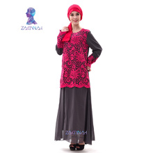 Zakiyyah A003 New Elegant Chiffon Islamic Dress womans plus size abayas muslim dress arabic fashion clothes free shipping