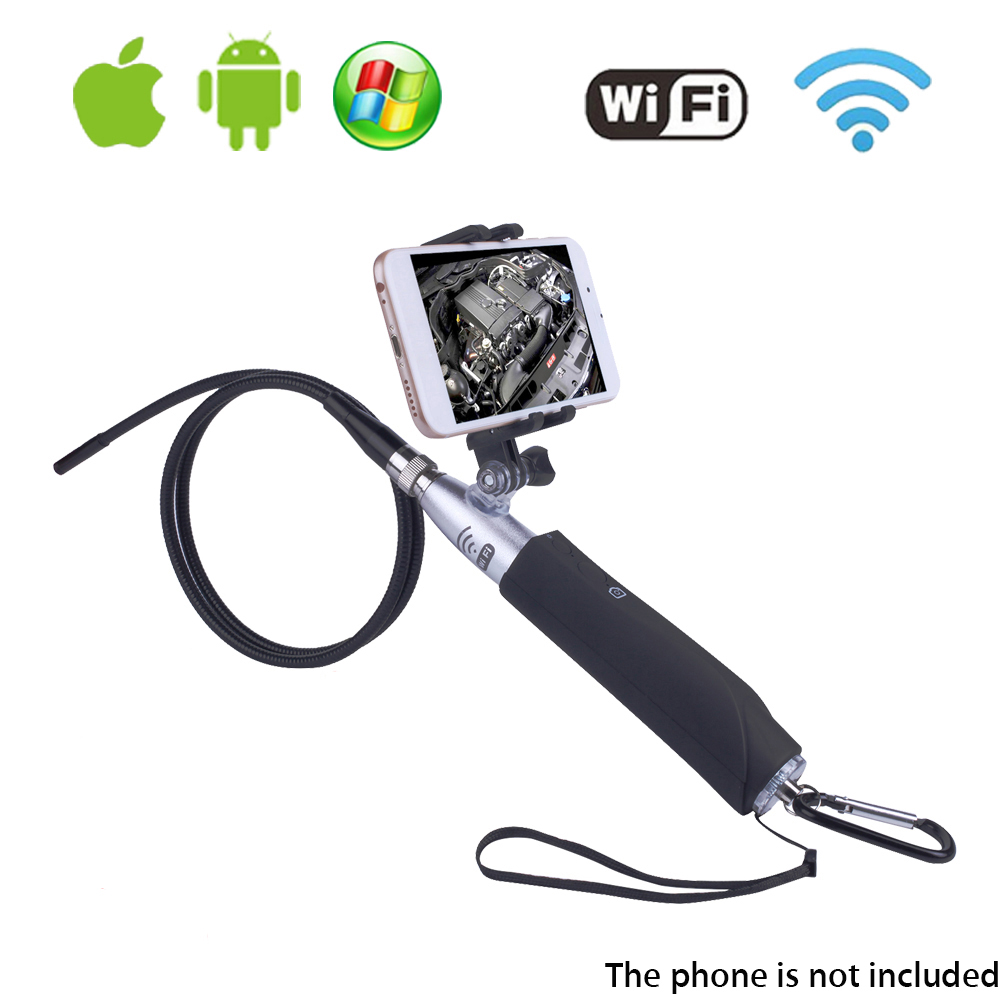 SeeSii ZCF110 6LED Wifi Endoscope Wireless Borescope Tube Snake Inspection Camera 720P 2.0MP Handheld 8mm For IOS Android PC