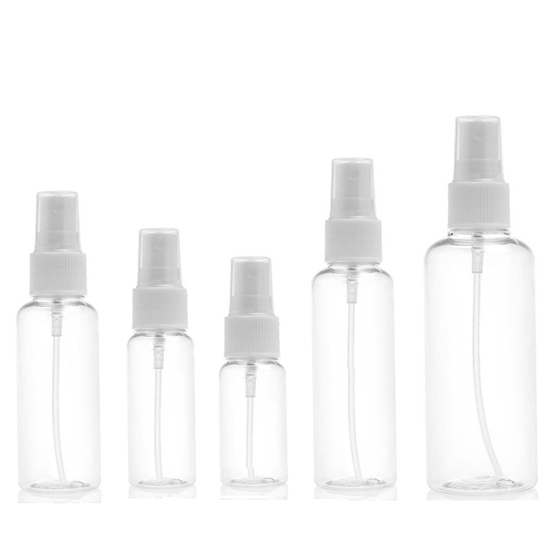 50PCS Empty Spray Bottle 10ml 30ml 50ml 60ml 100ml Travel Transparent Plastic Perfume Refillable Bottle
