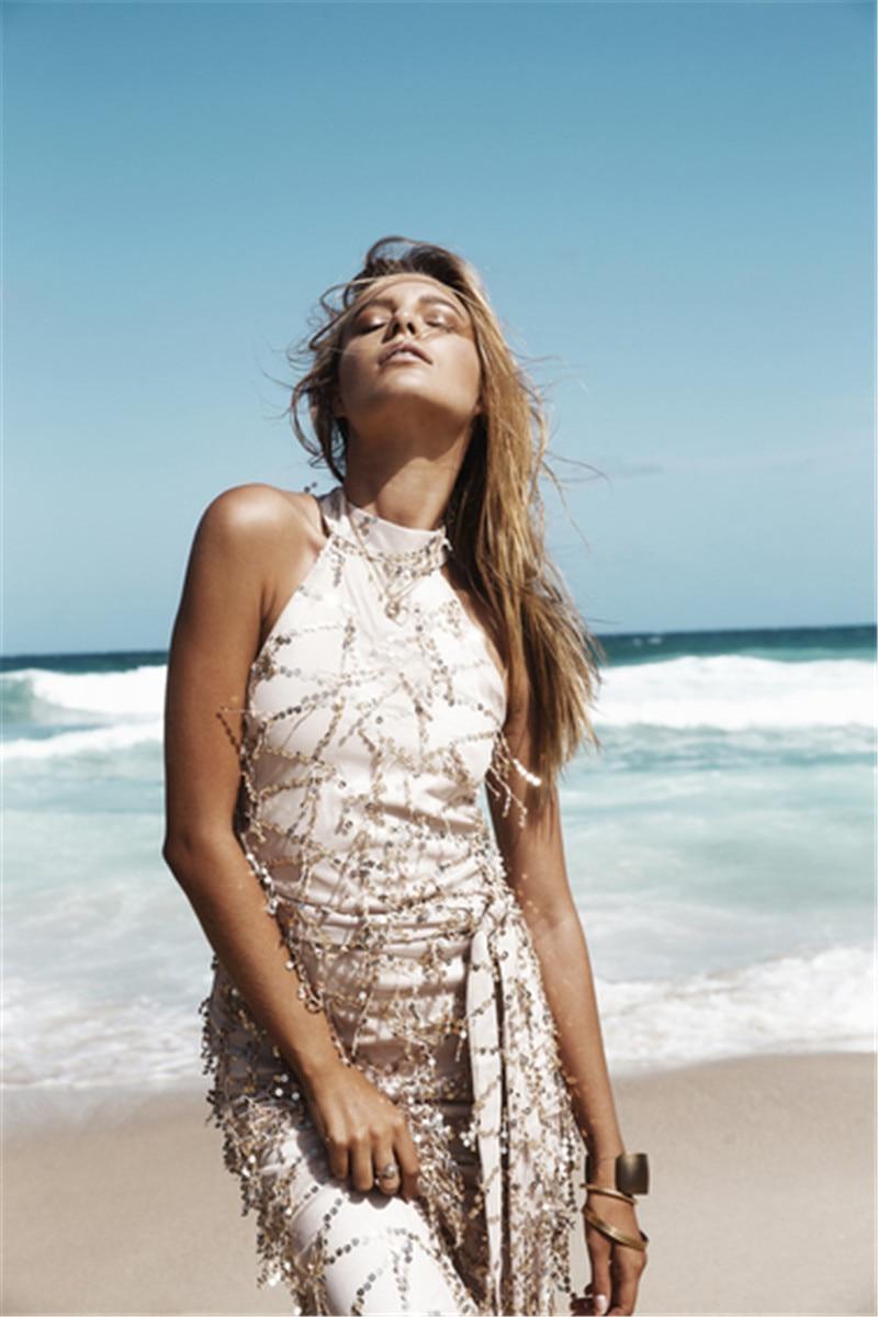 Women Summer Maxi Dress 2016 sequin Bodycon Party Dresses Strapless ...