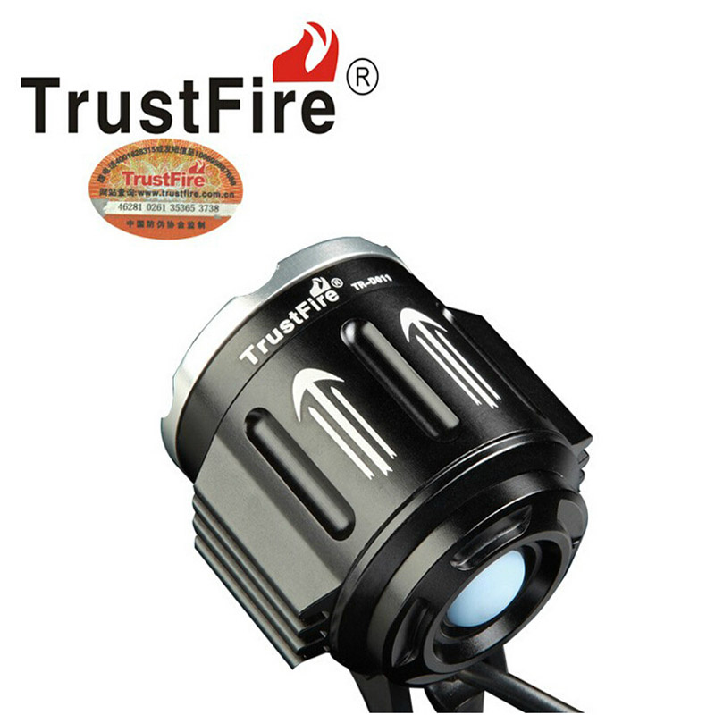 TrustFire D011 3xCree XM-L2 led bike light 8.4V bicycle lamp+ Mobile Power Bank Battery Pack trustfire 3 led 3 mode 1100lm cool white light bike light grey purple 2 8 4 2v
