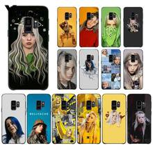 Yinuoda Billie Eilish Hot Music Singer Star Black Phone Case for Samsung Galaxy S9 plus S7 edge S6 S5 S8 case