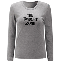 The Twilight Zone Print Long Sleeve T Shirt Women Tops Letter Graphic T Shirt For Lady