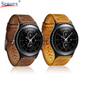 dropshipping December 08  Replacement Retro Genuine leather Watch Bracelet Strap Band For Samsung Gear S3 Classic  new design