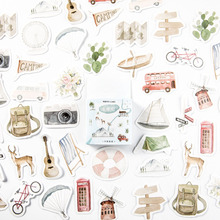 46Pcs/box Lovely Go travel Decorative Stationery Stickers Scrapbooking DIY Diary Album Stick Label lazy cat meow decorative stationery stickers scrapbooking diy diary album stick label