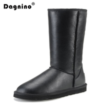 New Fashion Winter Natural Fur Boots For Women Top Quality Waterproof Genuine Sheepskin Leather Snow Boots Real Wool Long Boots miyagina top quality new fashion genuine sheepskin leather snow boots 100