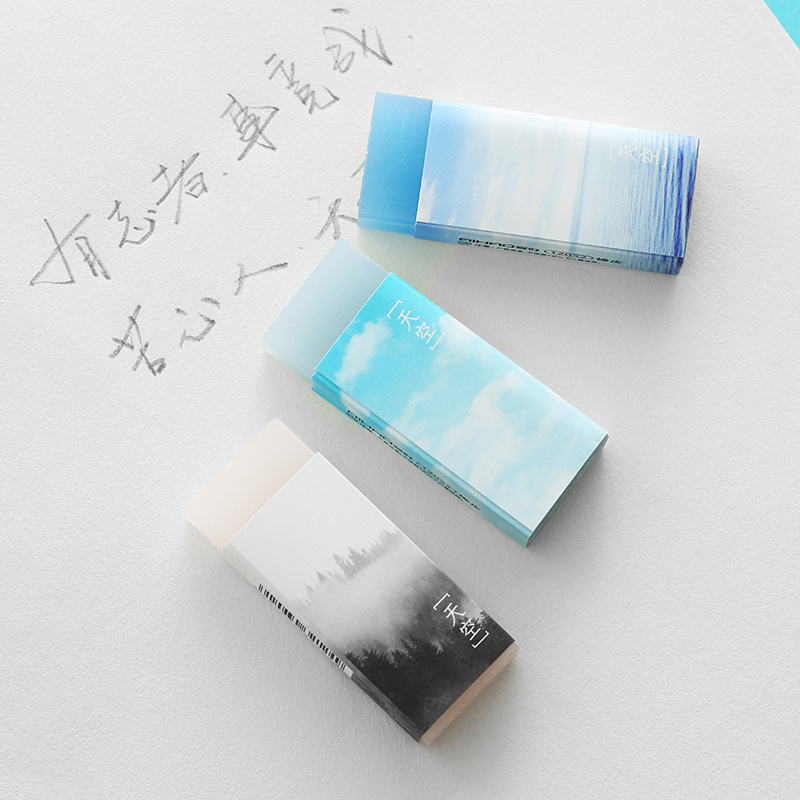1 PC Rubber Eraser Cute Sky Rubber Erasers School Office Supply Pupil Prize Stationery Gift Cute Eraser
