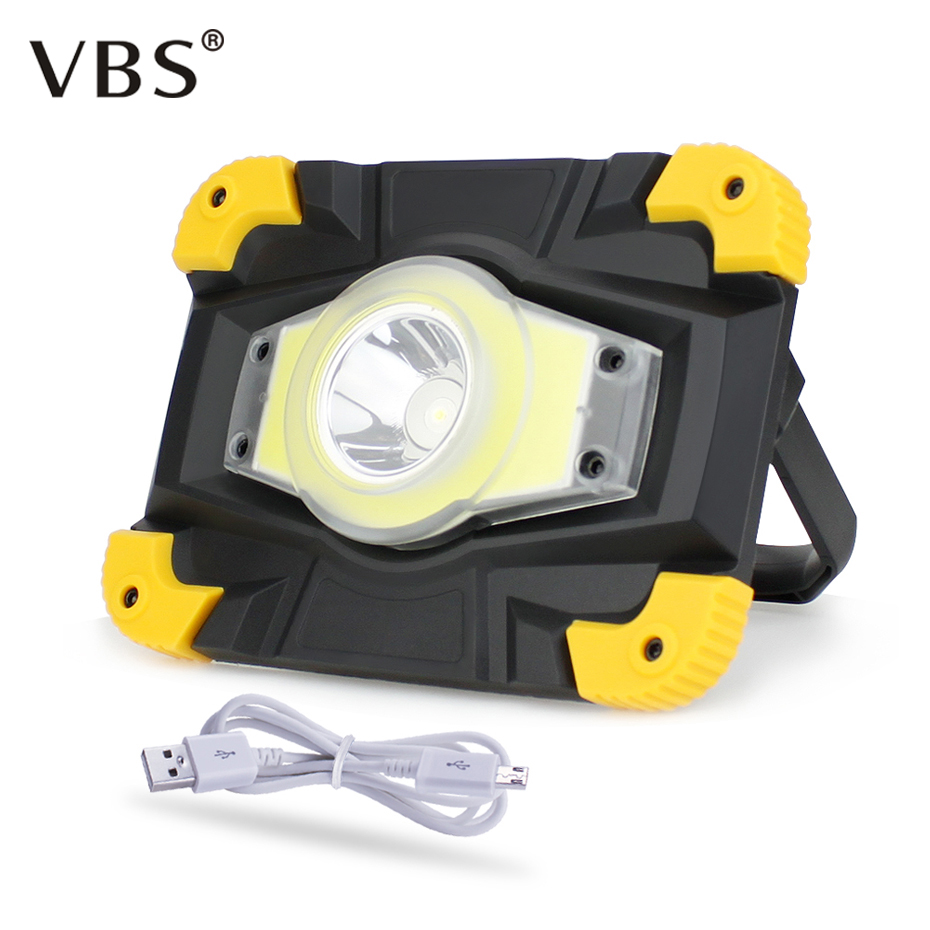 Access Control Kits Smart Solar Portable Rechargeable Emergency Searchlight Led Camping Light Outdoor Work Spot Lamp High Quality Security & Protection