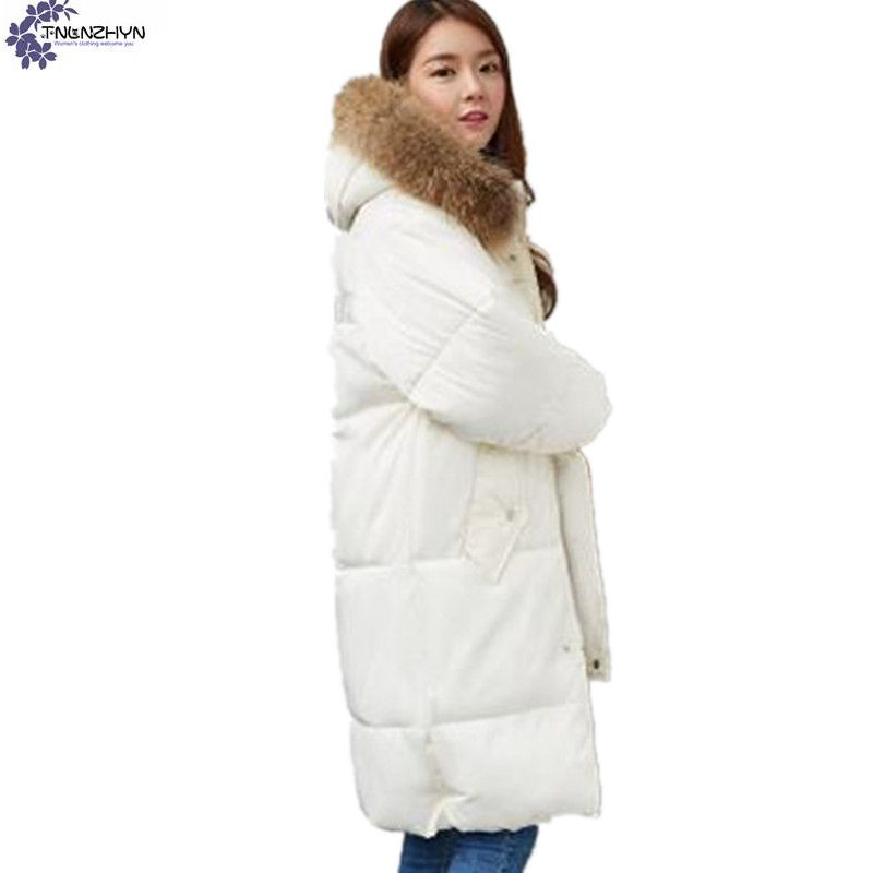 TNLNZHYN Women's clothing Cotton coat Winter New fashion Big yards Hooded fur collar Thickening Female Cotton Outerwear Wu21 les gobelins les gobelins pivoines aquarelles 70 190