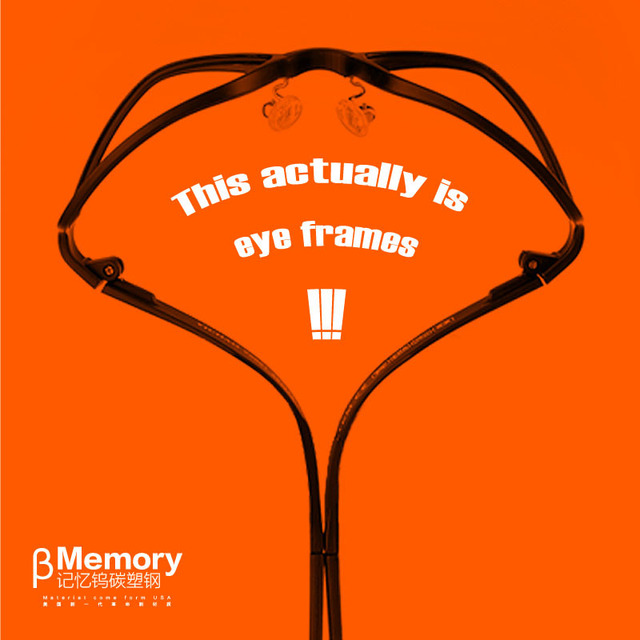 50% Off  New Material Ultra-light ( more than TR90) tungsten titanium glasses frame myopia glasses