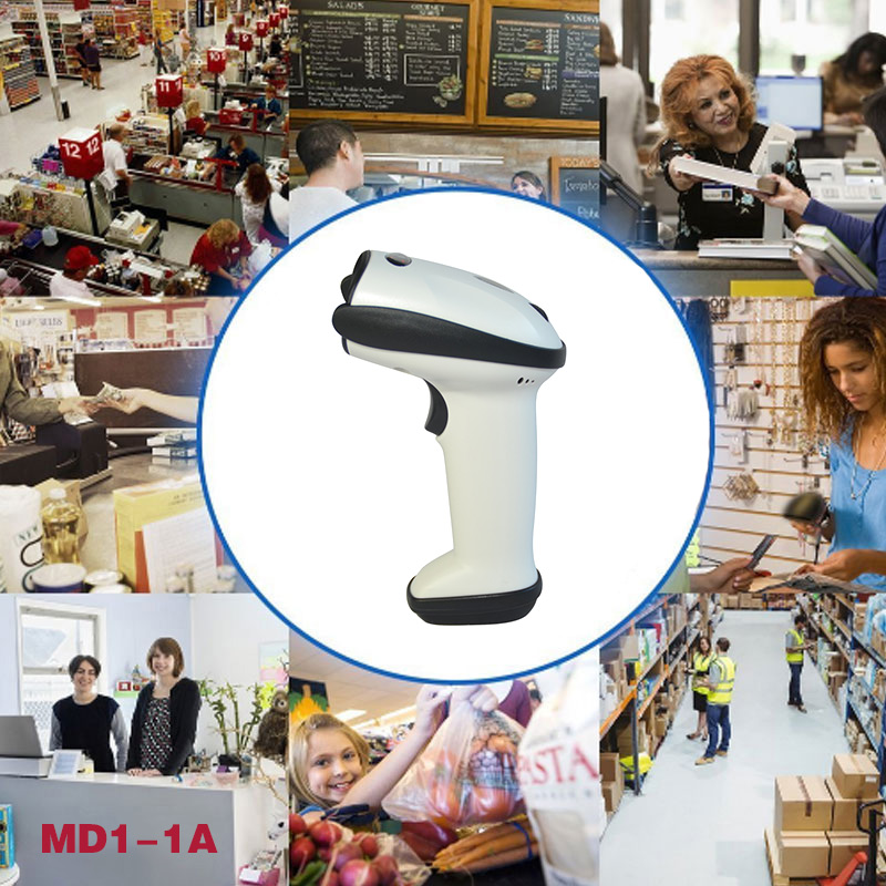BP-BP-616 2.4G Wireless USB Automatic Laser Barcode Scanner Rechargeable Handheld Bar-code Reader For POS PC Laptop XXM8 usb laser handheld barcode scanner reader for desktop laptop 2m cable page 1