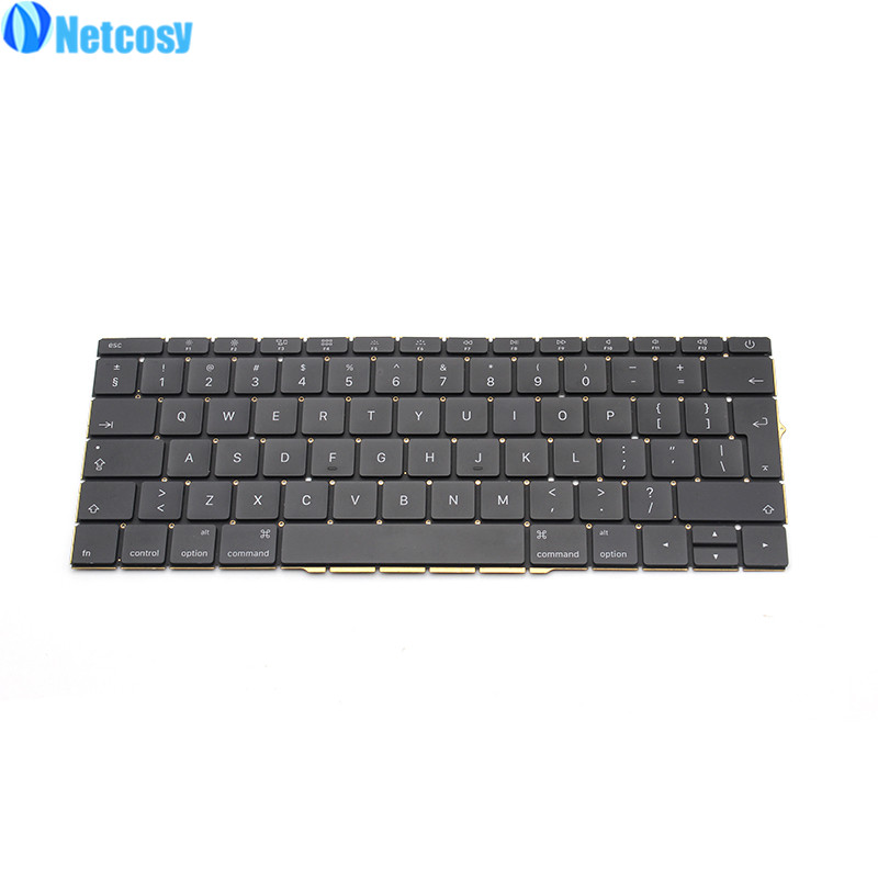 Netcosy For Macbook Pro Retina 13 A1706 2016 New EU Replacement keyboard Laptop EU standard keyboard For Macbook A1706 original grey silver laptop a1706 lcd assembly 2016 year for macbook pro retina 13 inch a1706 lcd screen assembly replacement