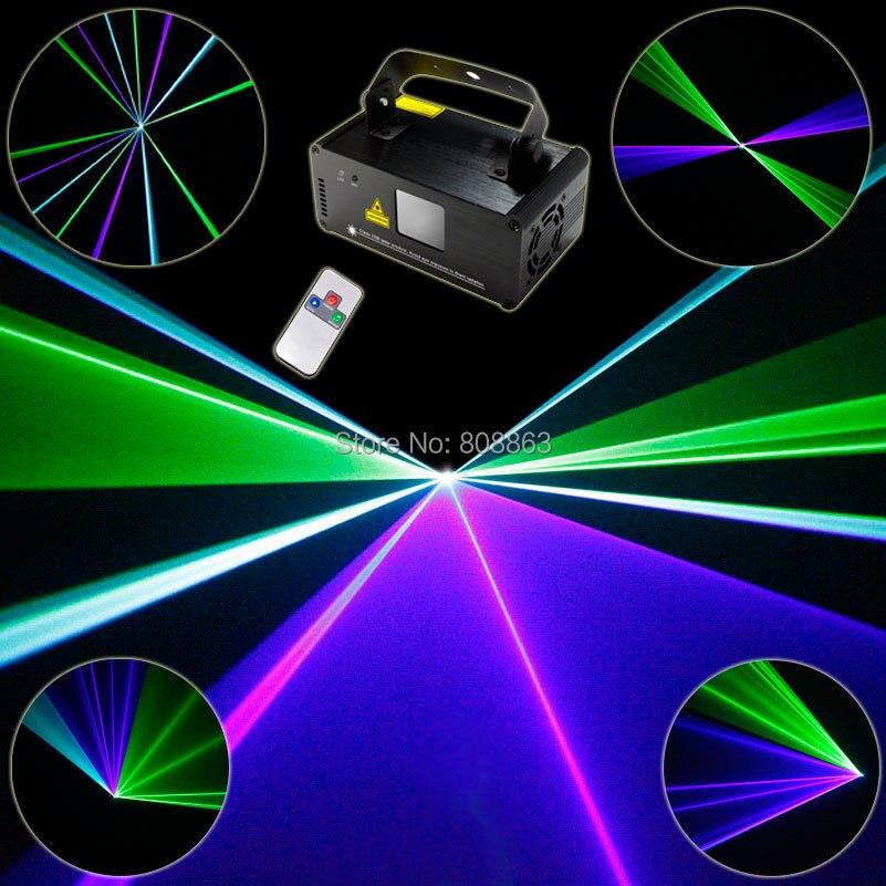 Новый Зеленый Синий Голубой лазерный луч сканирует удаленного DJ танец бар Кофе магазин Рождество вечерние Disco DMX512 освещение системы Show D76