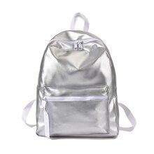 Casual Backpack Female Brief Design Soft PU Leather School Bag Women Backpacks Solid Shoulder Bag Ladies Travel Back Pack