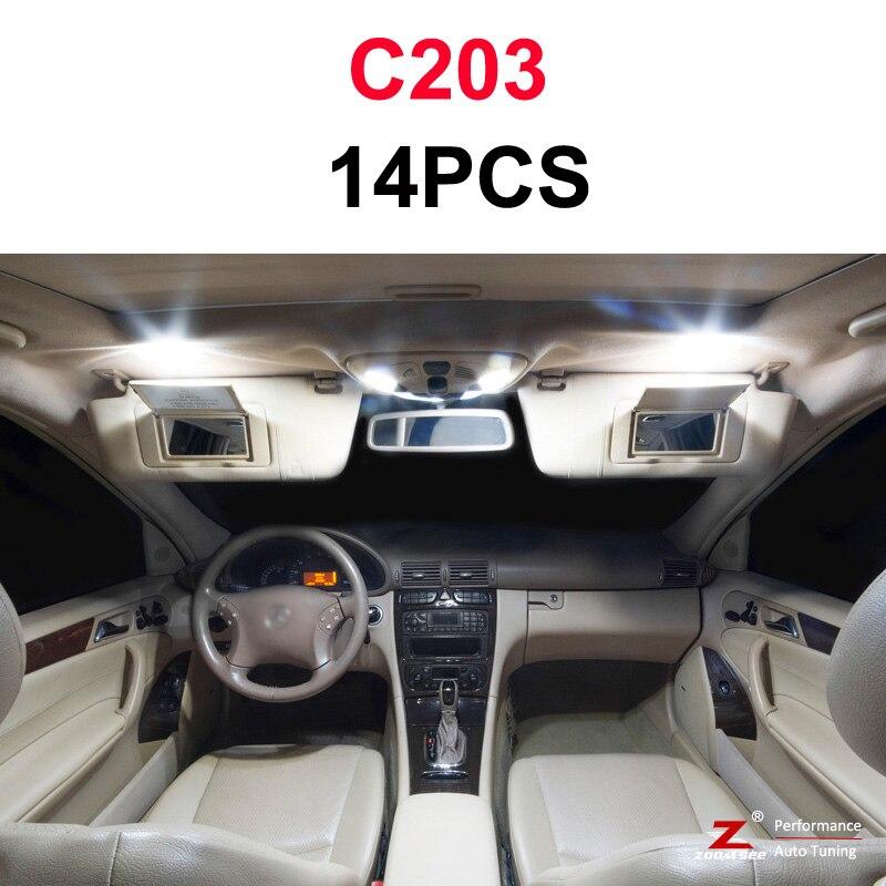 Идеальный белый светодиодный светильник Canbus для Mercedes Benz C class W202 W203 W204 S202 S203 S204 C203 C203 C204 C204(93-14 - Испускаемый цвет: C203 Coupe - 14PCS
