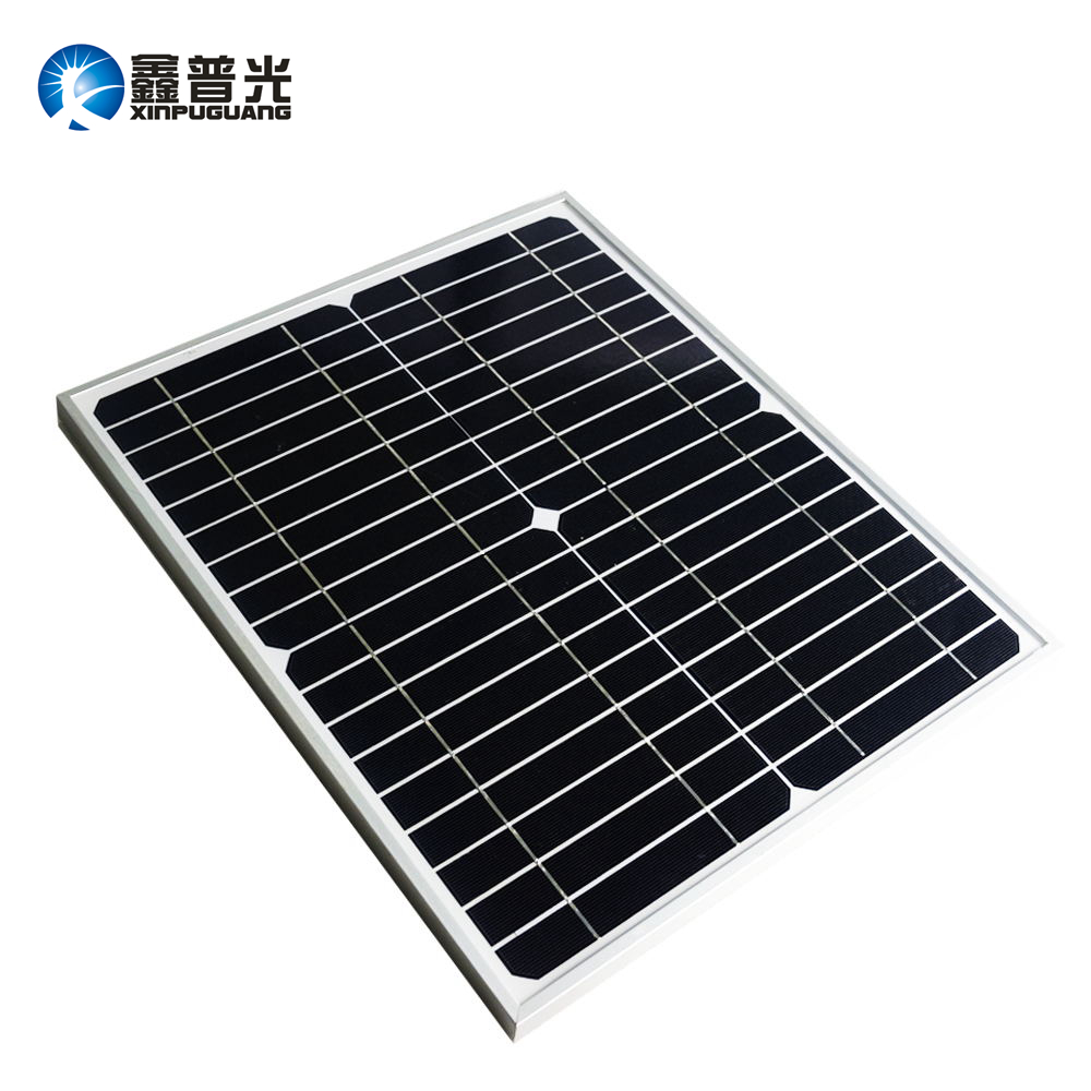 Xinpuguang 20W 18V monocrystalline solar panel module cell system 12V DIY kits for toys light led science toy experiment outdoor