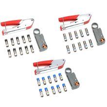 Ручной обжимной инструмент дробления зажим с провода зачистки плоскогубцы 10 шт. зажимной разъем экструзионного оборудования наборы