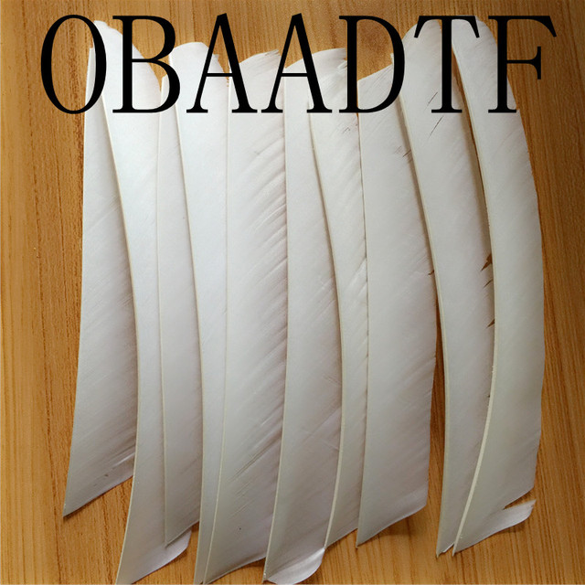 50pcs White Full Length Real Turkey Feather For Archery Hunting And Shooting Arrow Fletching The New Listing