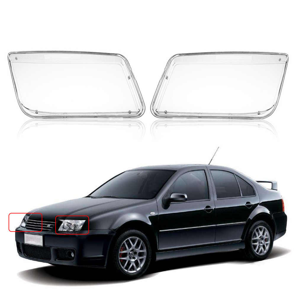 One Pair Plastic Headlight Headlamp Cover Replacement Transpa For Vw Mk4 Jetta Bora 1998 1999 2000