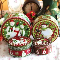 Free Shipping!4pc Christmas Design metal storage box Tin case sundries container biscuit box candy box Gift Box Christmas Gift