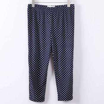 2018 cotton pants sexy knee length pant lady summer short capris large size polka dot slim pants women hot short 1
