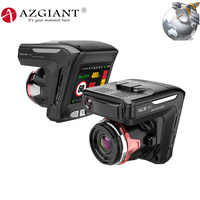 AZGIANT Full HD 1080P E dog All in One Car DVR MCTF Night Vision 170 Wide Angle WDR G sensor Dashcam Car camera Loop Recording