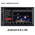 2 Автомобиля гама Мультимедиа Головное устройство Стерео Радио Плейер Android 6.0.1 OS 7 дюймов 1024*600 Quad Core 1 ГБ RAM 16 ГБ ROM для Nissan TOYOTA