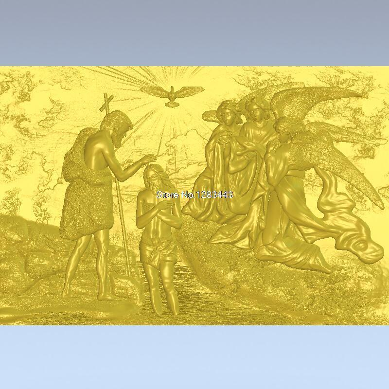 High Quality 3d Model Relief  For Cnc Or 3D Printers In STL File Format The Baptism Of Christ