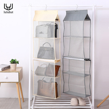 luluhut wall hanging bag storage 4 layers wardrobe bags closet organizer tote handbag holder