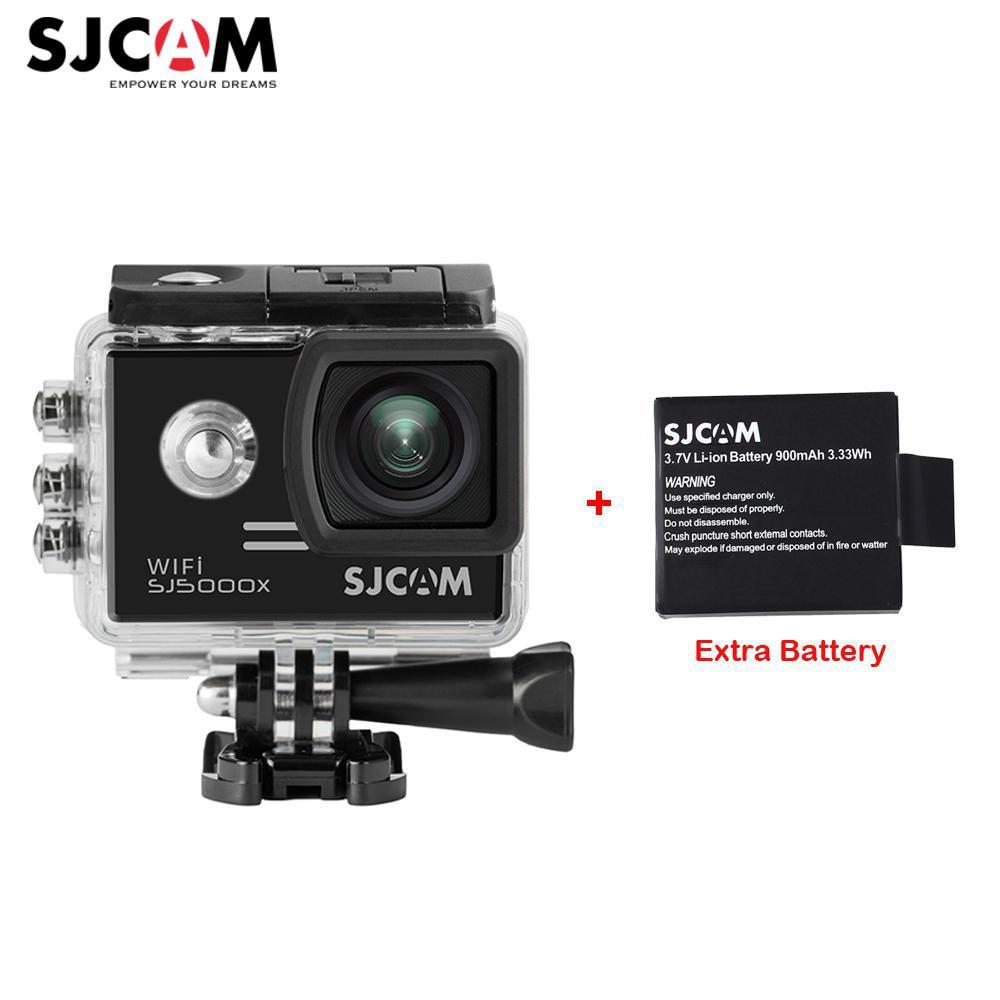 "Extra Battery, 2.0"" 4K Original SJCAM Sj5000 Series SJ5000X Elite WiFi NTK96660 GYRO Sports Action Camera Sj 5000X Car Mini DVR"