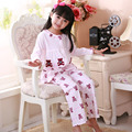 Children Pajamas Spring & Autumn Girl Suit Cartoon Loose comfortable Girl Pajamas Pure Cotton Long Sleeve Child Home Furnishing