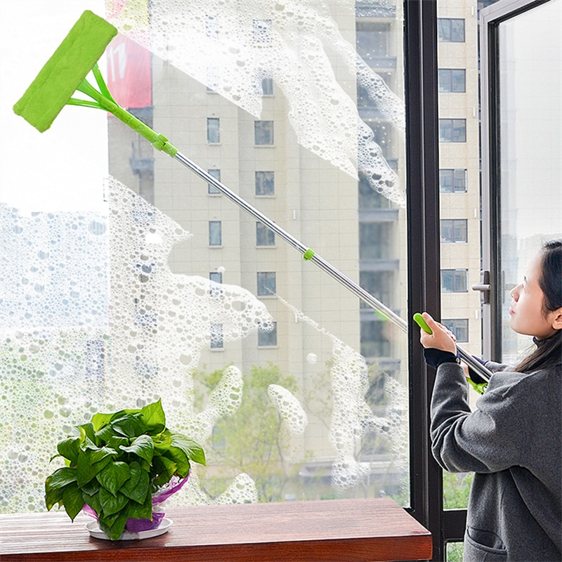 Upspirit Adjustable Window Cleaner Multi function Glass Cleaning Brush For Outside Door Telescopic High rise Cleaning