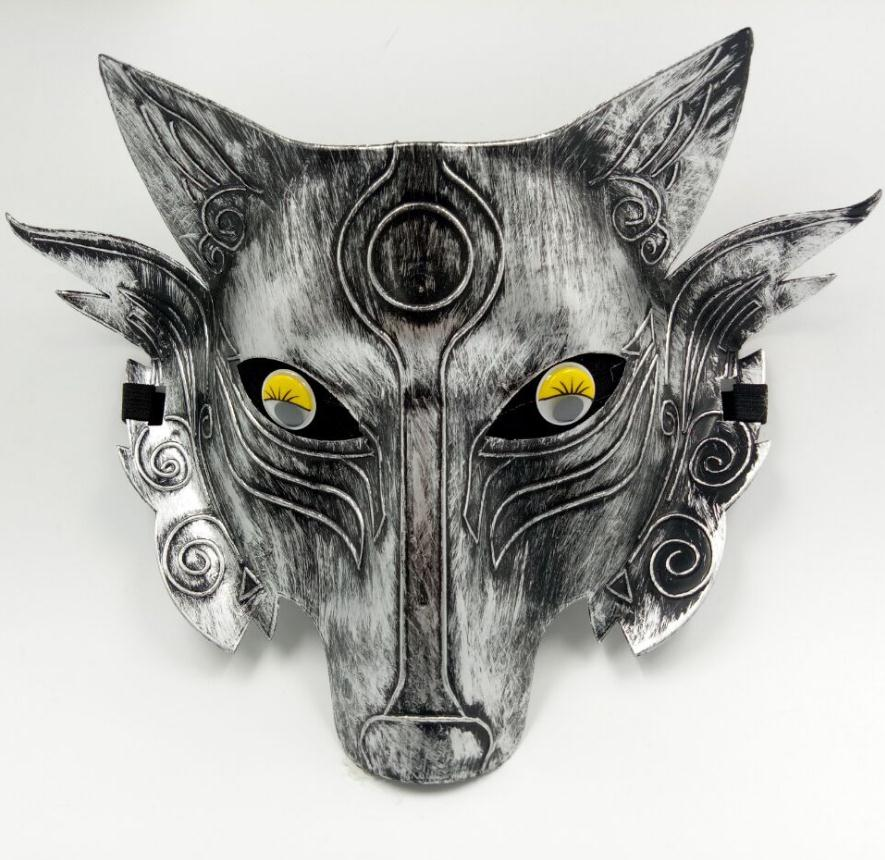 Wholesale 2 pc/lot Halloween Horror Mask Game Mask Thickening Wolf Head Mask Vigilance Game Shading Anti-Cheat Mask image