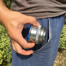 Poket estilingue poderoso liga de alumínio, tirachinas, copo cinza prateado e cinza, mini besta