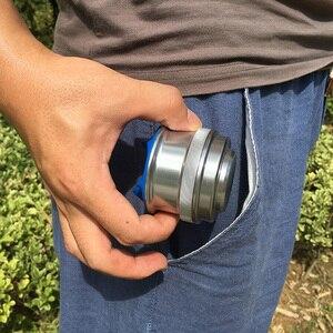 Image 1 - Poket slingshot powerful Aluminum Alloy hunting Bow  Tirachinas Estilingue Silver and gray cup Slingshot mini crossbow