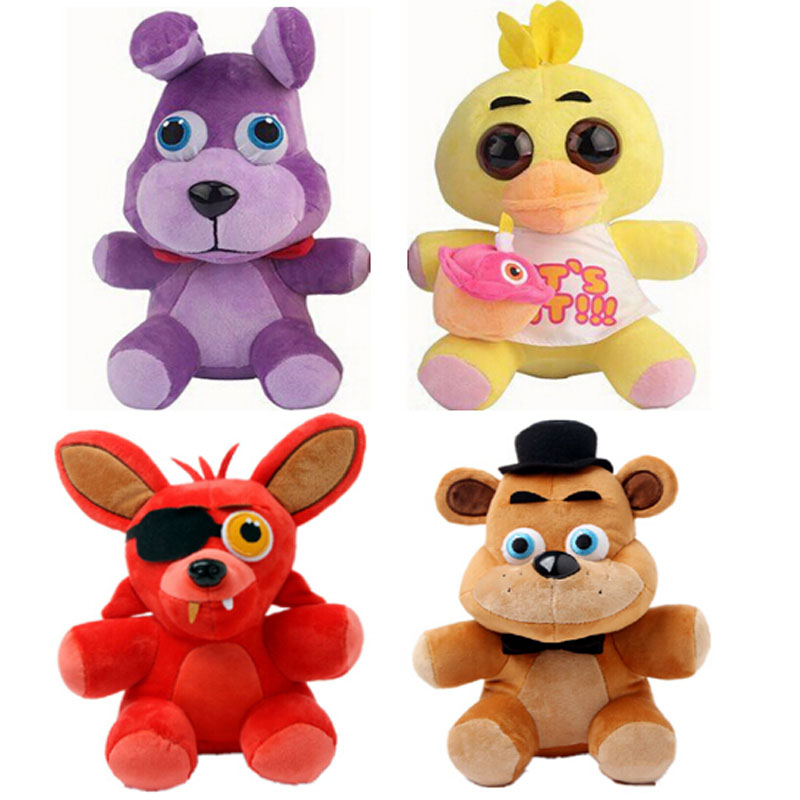 Five Nights At Freddy Plush Freddy Bear Foxy Rabbit Duck Kawaii Plush Toys Freddy Toys FNAF Children Gift wholesale five nights at freddy s 4 fnaf freddy fazbear bear foxy plush toys doll kids birthday gift
