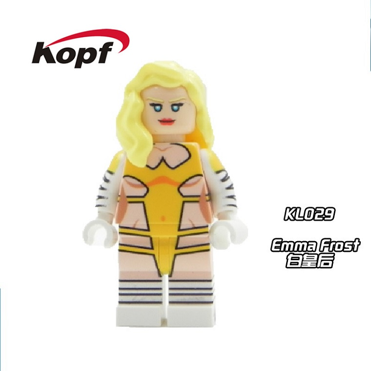 20Pcs KL029 Cute Figures White Queen Emma Frost Crystal Crystalia Super Heroes Inhumans Royal Family Building Blocks Kids Toys