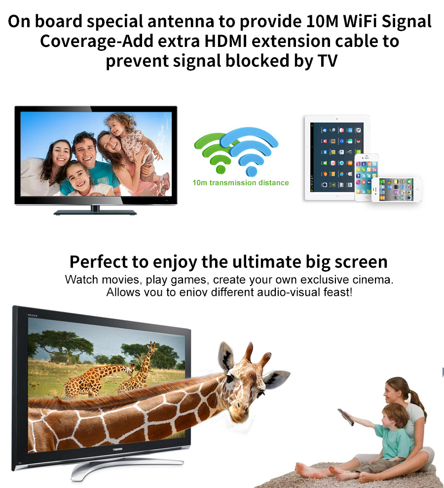 dongle com dlna miracast airplay hdmi 1080