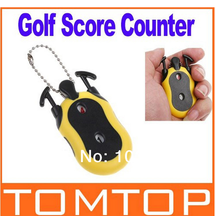 2шт Mini Golf Stroke Shot Putt Score Keeper s ključno verigo H8352 Freeshipping Dropshipping na debelo
